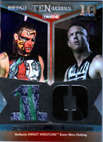 TNA Jeff Hardy & Mr. Anderson 2012 TENacious SILVER Dual Relic Card SN 2 of 100