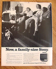 1970 Sony TV Television Ad A Family Size Sony  11OU-TV