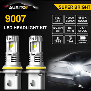 2X AUXITO 9007 LED Headlight Kit High Low Beam Bright White Bulbs for Chevrolet