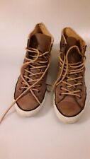 RARE men's Chuck Taylor All Star  brown Leather/ Suede high tops Size 10 1/2