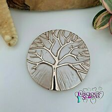 MAGNETIC BROOCH SCARF PIN CLIP, ROSE GOLD MULBERRY, TREE OF LIFE DESIGN SMALL