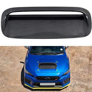 for Subaru WRX STI 2015-2020 Carbon Fiber Front Engine Hood Air Vent Cover Trim