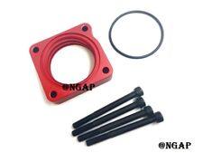 Red Power Flow Billet Throttle Body Spacer Fit 12-15 Honda Civic SI 2.4L K24Z7