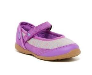 Stride Rite Girls Terry Purple Mary Jane Shoes 9M EU 26 CG54164 FAST SHIP! D13