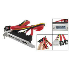 2-eSATA + 4 Pin Power Bracket Port to Female SATA Cable