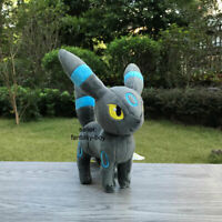 "Cute Shiny Umbreon 6.5"" Plush Blacky Stuffed Toy Cartoon Soft Doll"