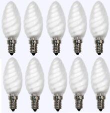 10 x Glühlampe Glühbirne Kerze gedreht E14 40W 40 Watt matt 230V Leuchtmittel