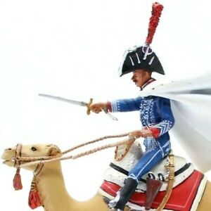 Hand-Painted Mounted Toy soldier with Artillery French Officer Camel Crops 1798