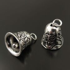 40pcs Atq Silver Tone Alloy Gingle Bell Jewelry Charms Finding 7*7MM 38373