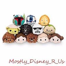 New Disney Store Star Wars Complete Tsum Tsum 12 SET Luke R2D2 Chewbacca Yoda