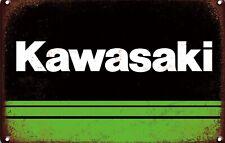 Kawasaki Metal Sign Vintage Garage Motorbike Ninja Home Bar Man Cave Plaque