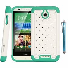 Style4U Crystal Bling Armor HTC Desire 510 Case w/HD Screen Protector & Stylus