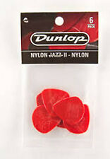 Jim Dunlop Guitar Pick / Plectrum 47P2N NYLON JAZZ II. Retail pack of 6 pieces