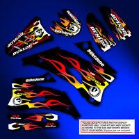 2003 2004 YAMAHA YZ 250F / YZ450F GRAPHICS KIT MOTOCROSS FLAME DECALS