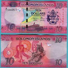Solomon Islands 10 Dollars ND(2017) UNC**NEW (sign 11)