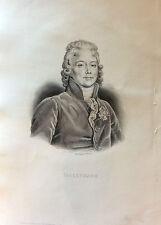 Talleyrand gravure de 1863 France