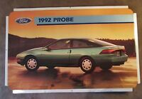 "Ford Probe 1992 Dealer Showroom Promotional Photo Poster 22 1/2"" x 14"""