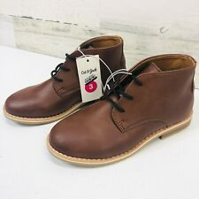 NEW Cat & Jack Filip Brown Boys Youth Casual Dress Chukka Boots Shoes Size 3
