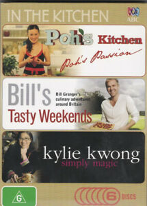 In The Kitchen - Poh's Kitchen/ Bill's Tasty Weekends/ Kylie Kwong - DVD x 6