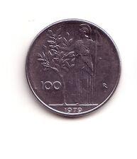 Repubblica Italiana  100 lire 1979  Minerva 1°tipo   acmonital    BB