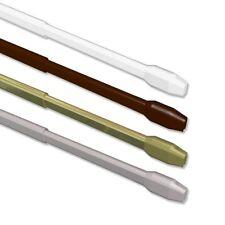 INTERDECO Vitragestangen ausziehbare Scheibengardinenstangen 2 Stück pro Set