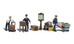 Depot Workers & Accessories - OO/HO gauge Figures - Woodland scenics WA1909