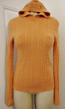 *  J.CREW STYLIZED PUFFY CABLED SWEATER SZ M WOOL/CASHMERE/ANGORA SALMON-----#X2