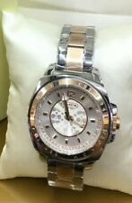 Coach rose gold silver two tone with crystals ladies womens watch