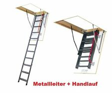 Bodentreppe H280 60x120 Holztreppe 120x60 Speichertreppe mit Handlauf LMK FAKRO