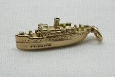 1950's Solid 9ct Gold First Cruise Liner SS Nassau Charm