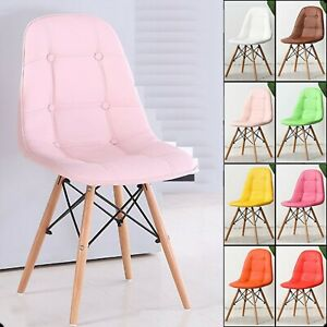 Retro Eiffel  style Dining/Kitchen/Office  leather Chair  .,.