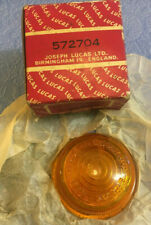 Genuine NOS Lucas 488 lens indicator flasher amber glass boxed made in England