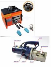 "Heavy Duty Electric Rebar Bender And Rebar Cutter 1"" Diameter Combo Set Portable"