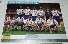 CLIPPING POSTER FOOTBALL 1991-1992 PARIS SAINT-GERMAIN PSG PARC-DES-PRINCES