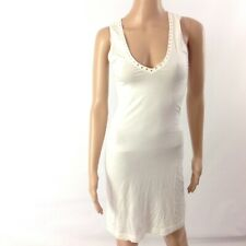 Dolce & Gabbana Beachwear Swimsuit Cover Up  Swimwear White Crystal Size XS EU S