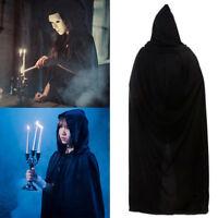 NEW Fiber Long Vampire Hooded Cloak Witch Robe Cape Halloween Kid Unisex Costume