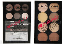 LA Colors Brow Palette & Contour Palette SET (Light to Medium)