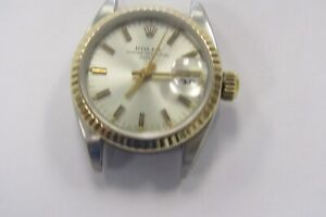 Two Tone Ladies Rolex Oyster Perpetual Date wrist watch, mfg in 1981, very nice!
