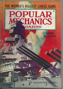 Magazine Popular Mechanics April 1940 Battleships Grand Coulee Dam WWII