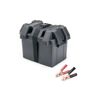 Small Battery Box + Battery Clamps for Jet Ski, Lawnmower, Electric Scooter