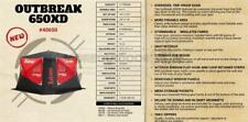 40650 NEW ESKIMO 5 MAN 2 DOOR ICE SHELTER OUTBREAK 650XD INSULATED POP UP