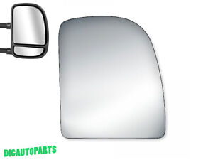 Upper Towing Mirror Glass for 99-07 Ford F-250 350 450 Super Duty Passenger Side