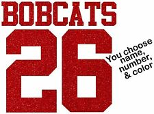 Sport Team Mom Jersey Letters Numbers Custom GLITTER Iron On Transfer Bling