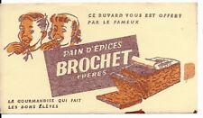 BUVARD pain d'épices BROCHET Frères original annees 50 DEFAUT d'impression