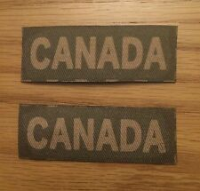 Reproduction printed/canvas Canada shoulder title/flash