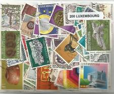 Lot 200 timbres du Luxembourg