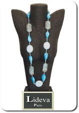 Vintage Endless Chain XL Necklace Statement Necklace 3 15/32in Glass Turquoise