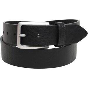 Ben Sherman Mens Leather Classic Hoskins Belt Black/Silver