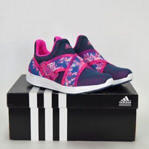 Adidas Bounce Baskets Femme Course Mocassins Chaussures à Enfiler Fleurs Bleu /
