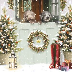 Looking Outside Charity Christmas Cards Pack of 10 Blue Cross for Pets